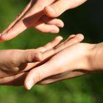 Hände zur Segnung